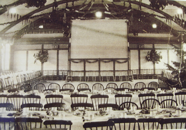 A photo of a photo of the interior of the cinema