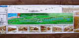 The interpretation board at the site