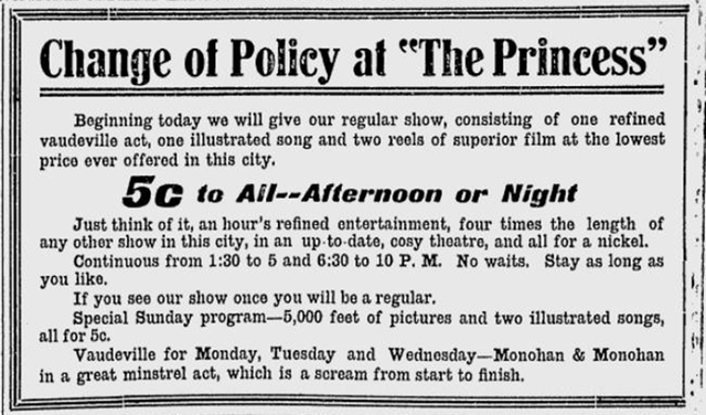 1908 newspaper ad.