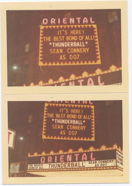 Oriental Theatre Marquee 1966