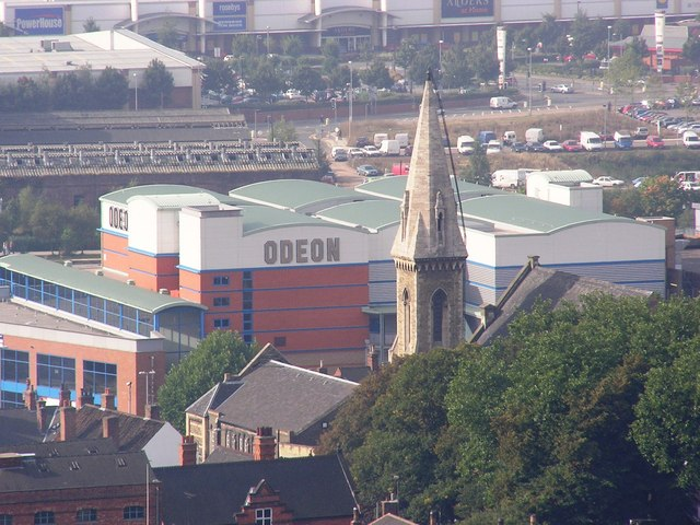 Lincoln Odeon from roof of Cathedral