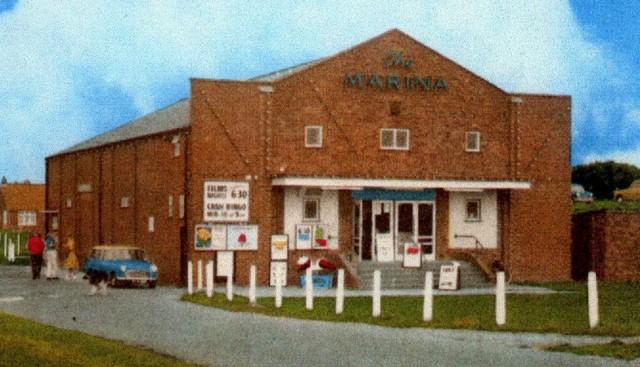 A postcard of the Marina