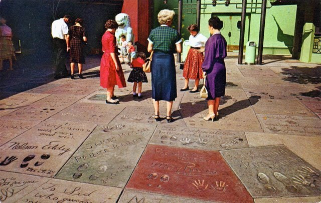 `50's sidewalk shot courtesy of the Fiftiesville Facebook page.
