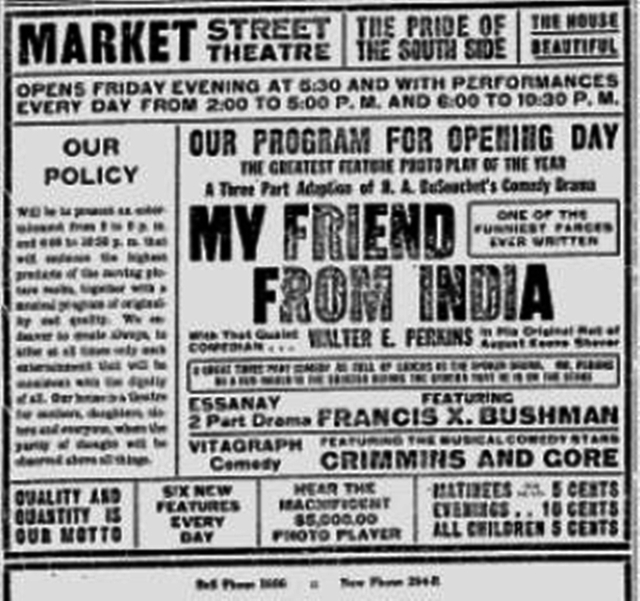 Opening day ad - Sept. 10, 1914