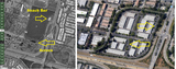 Aerial before-after Fair Oaks Drive-In