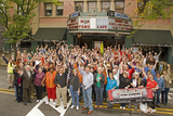 <p>Fans of The Lansdowne gathered in October 2009 to demonstrate their support of the restoration and reopening of the theater.  Todd Murray—photo credit</p>
