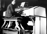 <p>Picture from Jan Madeley's Collection..   Showing Wilfred Gregory playin at the very first Wurlitzer Cinema organ to be installed in the United Kingdom.</p>