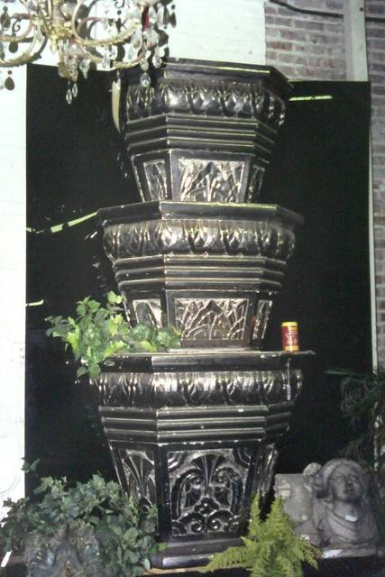 Original Southtown lobby fountain found in a North Side salvage shop in 1999.  Photo courtesy of John P. Keating Jr.