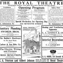 Opening Day Ad for the Royal Theater