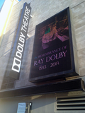 <p>Tribute to Ray Dolby the day he died in 2013. He invented the sound system, thankfully, and not the underperforming video signage display.</p>