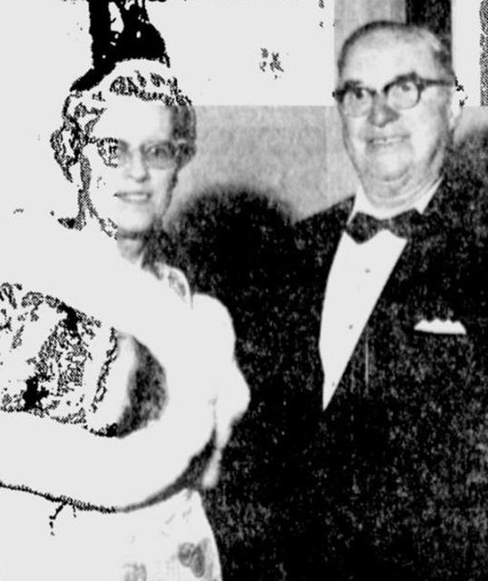 Mr. and Mrs.Edward Powers who saved the Warner Theater from the wrecking ball.