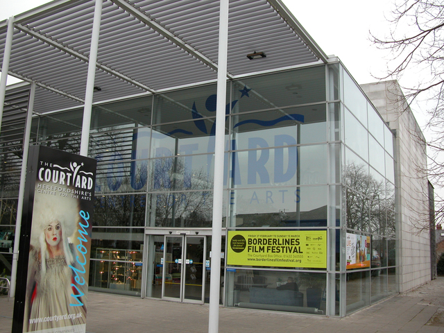 The Courtyard Arts Centre main entrance