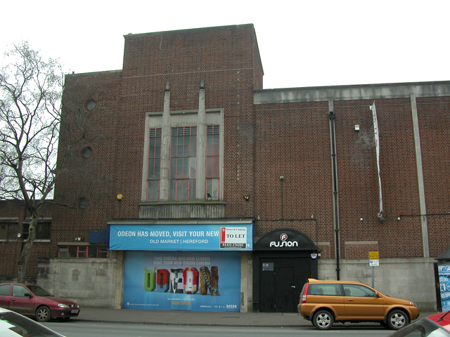 The main entrance to the Odeon