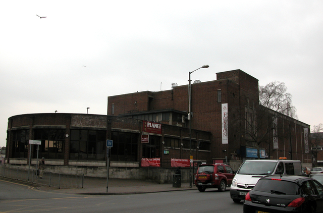 The whole building including the cinema, nightclub and restaurant