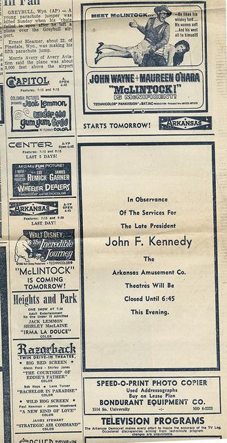 Center Theatre Newspaper Ad