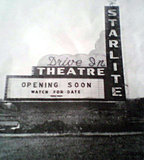 STARLITE  Drive-In Theatre; Chicago Ridge, Illinois.