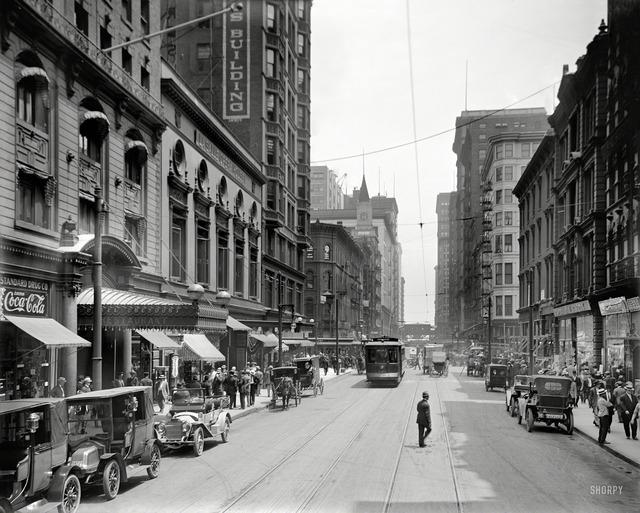 Madison Street, Hotel Brevoort & La Salle Opera House.