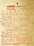 1961 Attraction Mailer and Door Hanger.  Carmel Theatre, Carmel, Indiana (Indianapolis Northside)