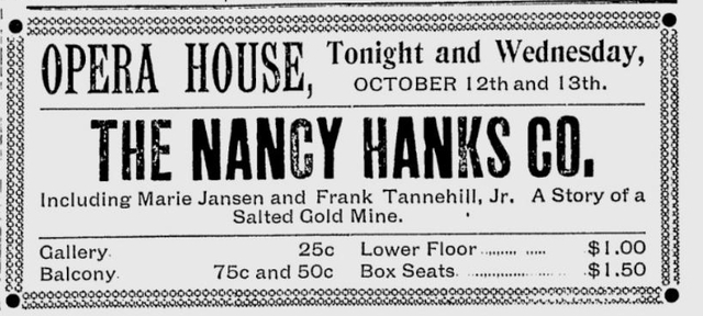Opening night at the remodeled Grand Opera House.