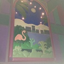 "Theater 6 Mural - ""Flamingo Pond"""