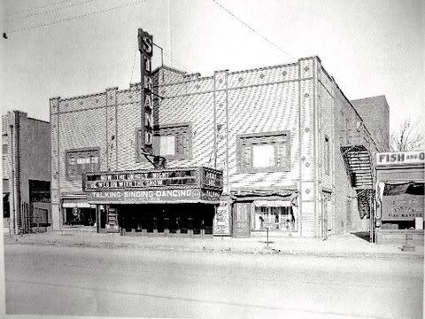 Facade of theatre circa 1930