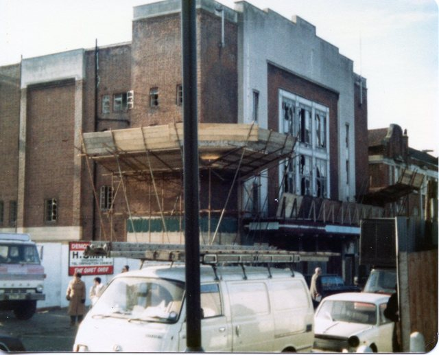 ABC Blackheath (front view) during demolition
