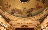 <p>Teatro Grand Splendid ceiling and the top of the proscenium.</p>
