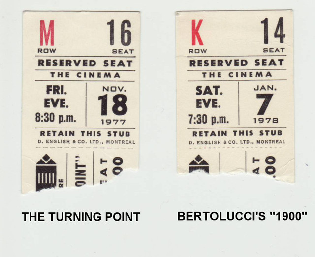Reserved Seat Ticket Stubs