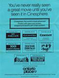 Flyer for 70MM film festival