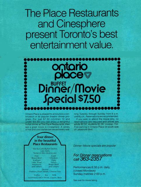 back of 70MM festival flyer