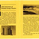 Pamphlet for the grand opening of the Americana