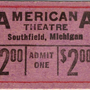 Movie ticket for the Americana