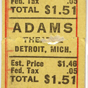 Movie ticket for the Adams Theatre