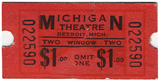 Movie ticket for the Michigan Theatre