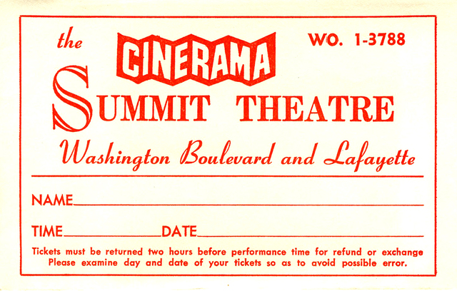 Envelope used for resered seat tickets