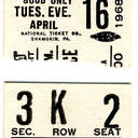reserved seat ticket for Summit Cinerama