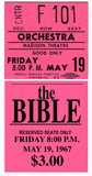 Reserved ticket for The Bible
