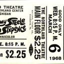 Reserved seat ticket stub for Half a Sixpence