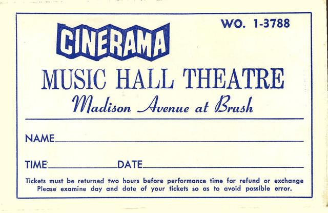 Reserved seat ticket envelope