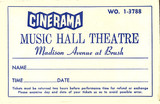 Reserved seat ticket envelope