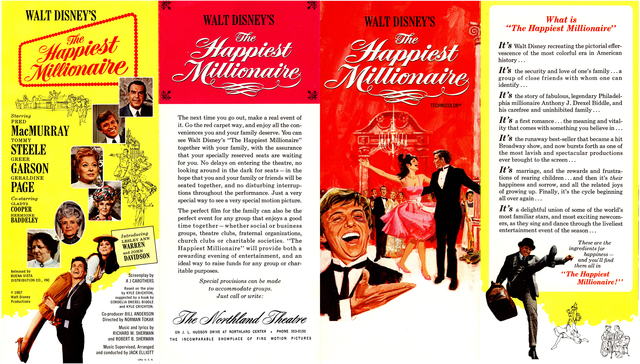 Advertising brochure for The Happiest Millionaire