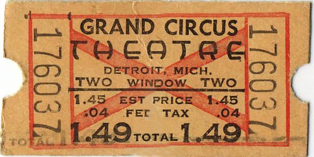 Grand Circus movie ticket