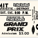Reserved seat ticket for GRAND PRIX