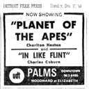 Newspaper ad for Planet of the Apes