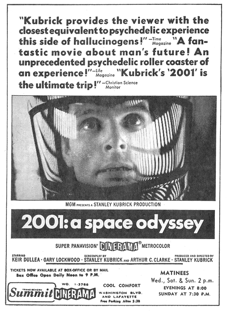 Another newspaper ad for 2001: A Space Odyssey
