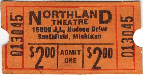 Movie ticket regular price $2.00