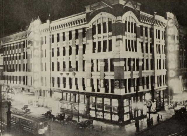 Night View of Colorado Theatre, Denver, 1922