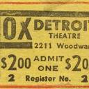 $2.00 admission ticket for the Fox Theatre