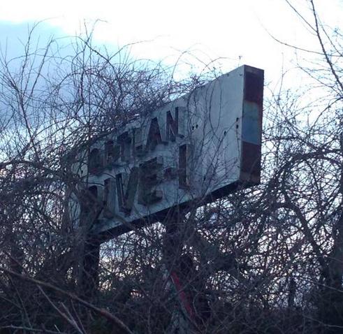Portland Drive-In sign circa 2015