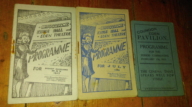 Programmes for the 3 Drummonds theatres which were later acquired by Essoldo